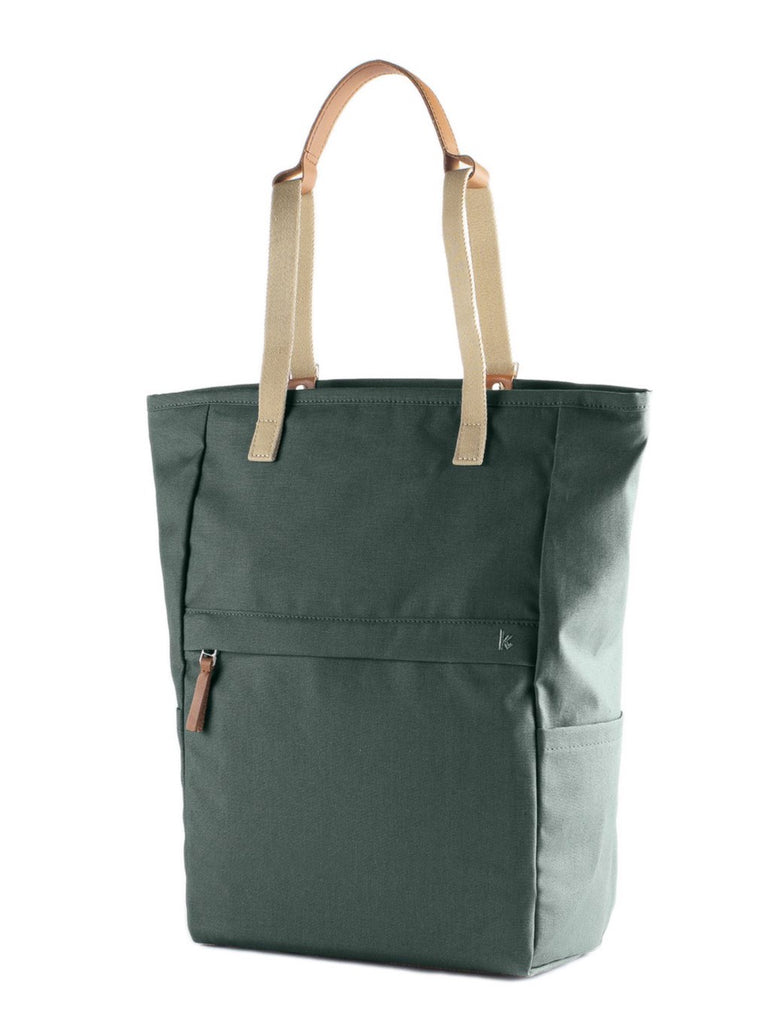 WALK WITH ME London Tote Backpack Dark Green