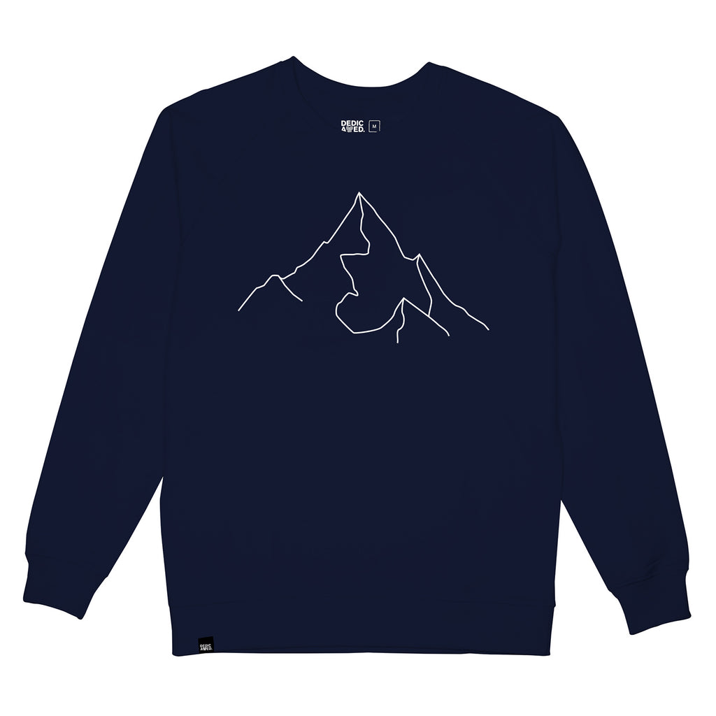 DEDICATED Malmoe Sweatshirt Mountain navy