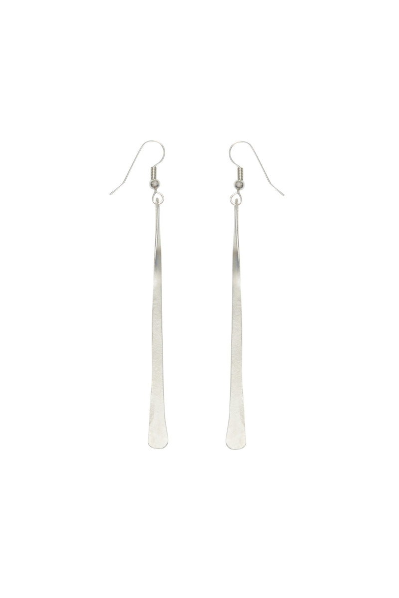 PEOPLE TREE Minimal Drop Earrings Silver