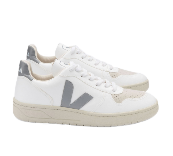 VEJA V-10 CWL Extra white Oxford grey men