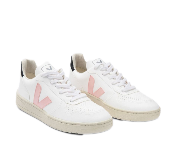 VEJA V-10 Vegan white petale black women