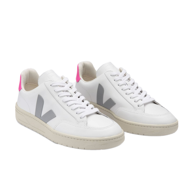 VEJA V-12 Extra White Oxford Grey Sari Women