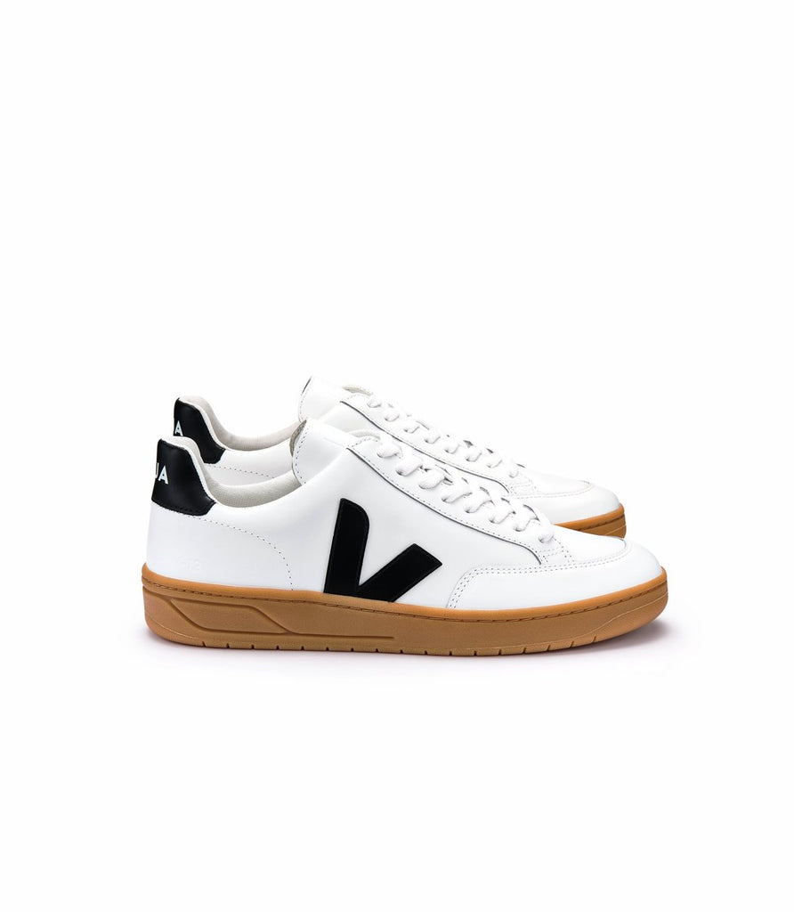 VEJA V-12 Extra White Black Natural Sole women