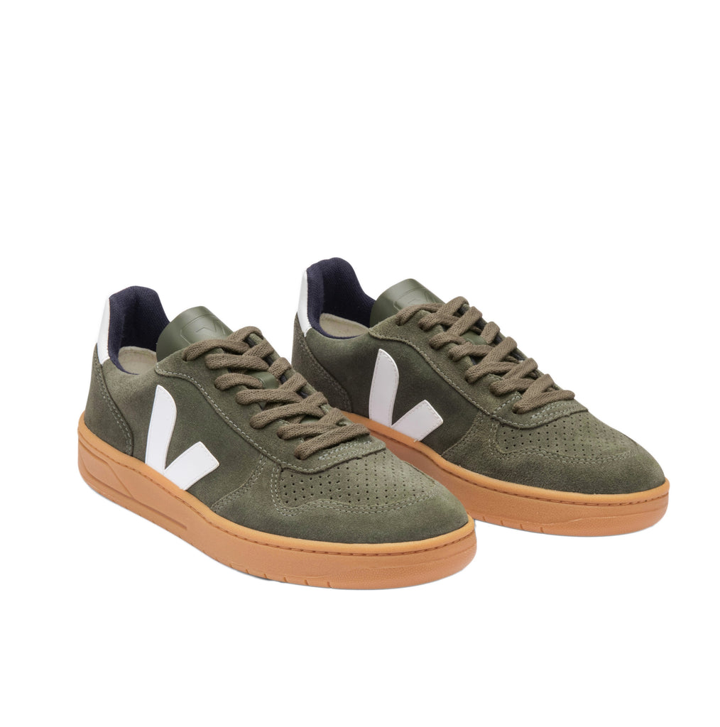 VEJA V-10 Suede Mud White Gum Sole Men