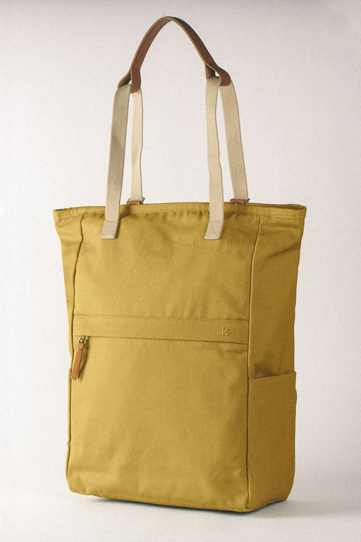 WALK WITH ME London Tote Backpack Mustard