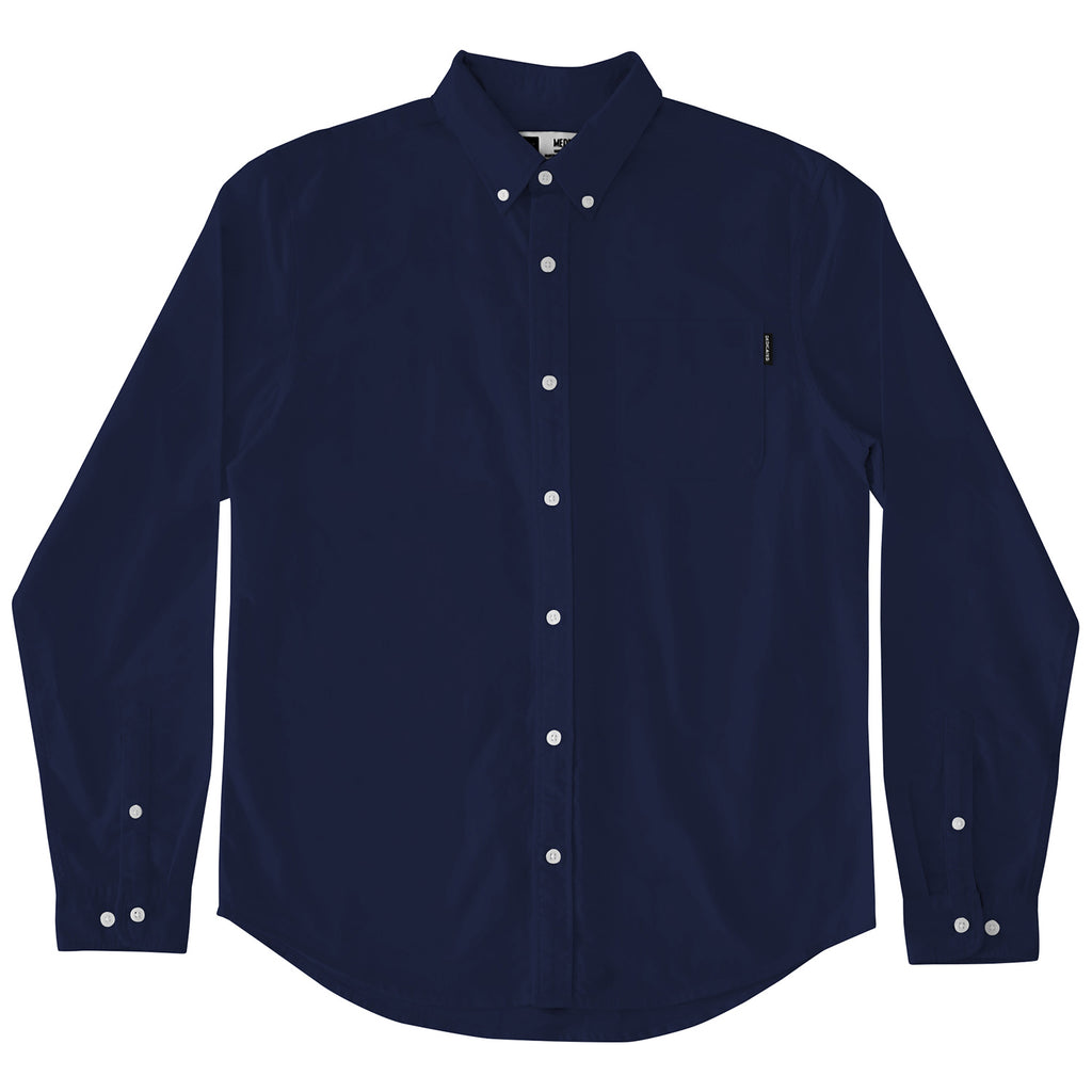 DEDICATED Varberg Oxford Navy Shirt