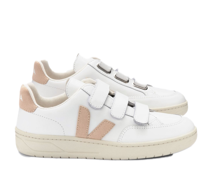 VEJA V-Lock Leather Extra white sable women