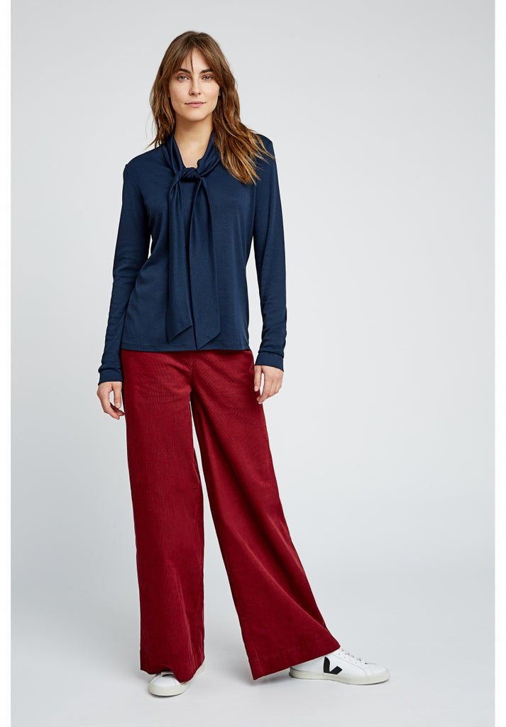 PEOPLE TREE Noelle Corduroy wide trousers red