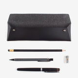 WALK WITH ME Pencil Pouch Black