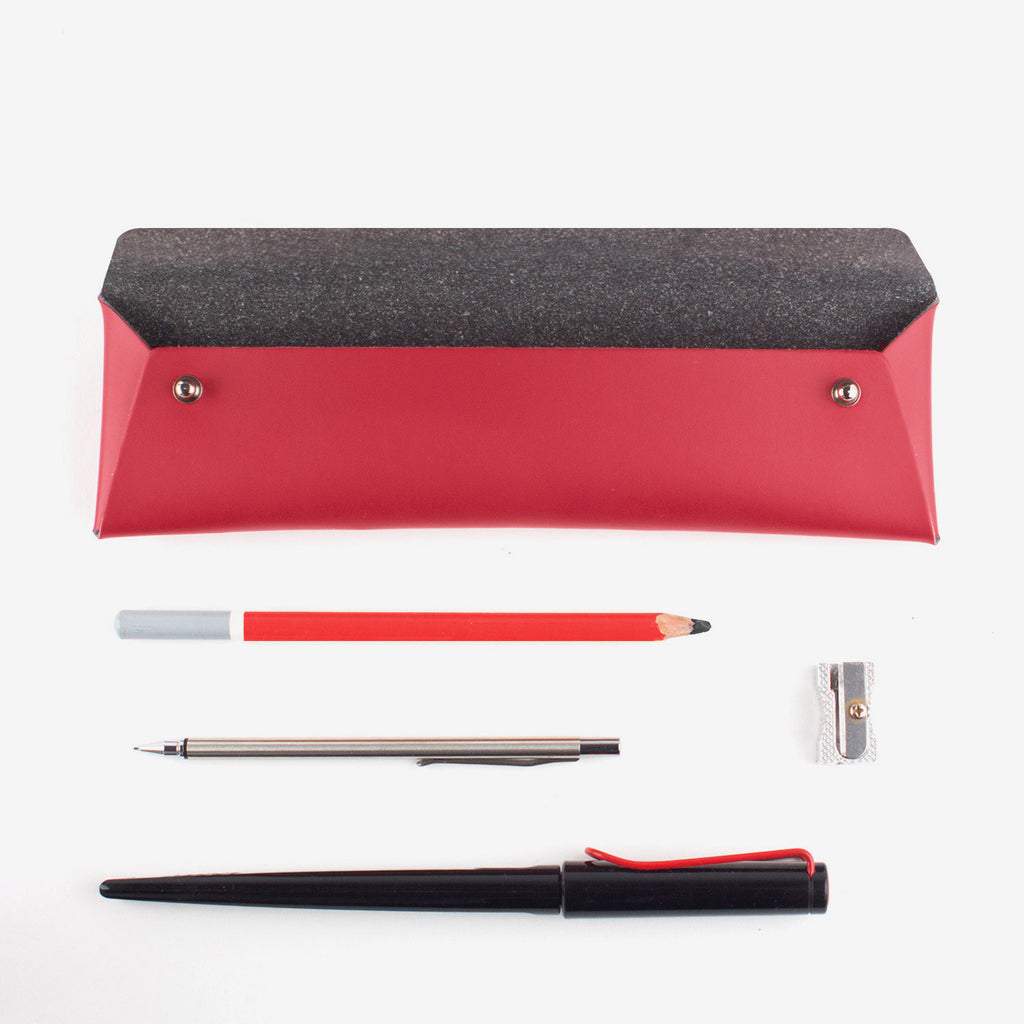 WALK WITH ME Pencil Pouch Red