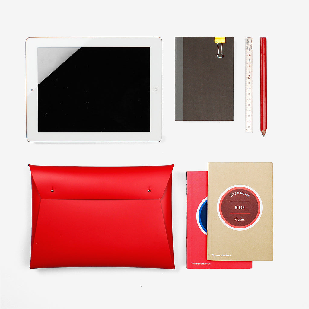 WALK WITH ME Small Document Organizer Red