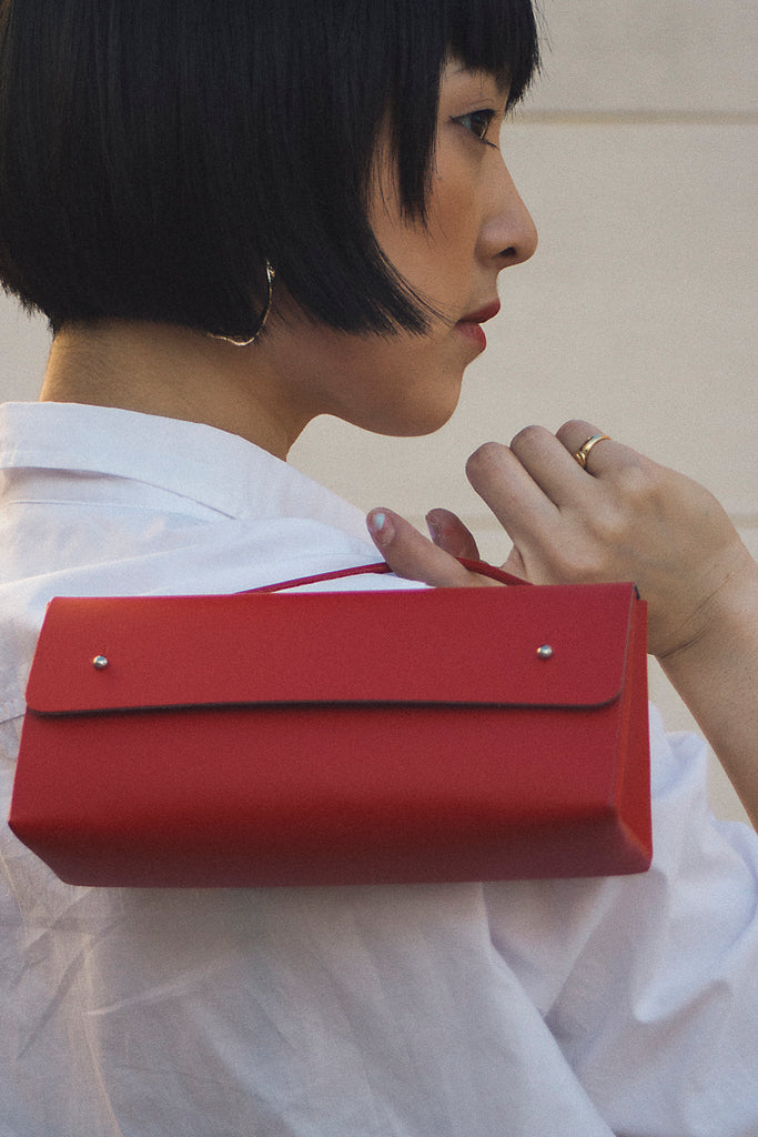WALK WITH ME Triangle Case Red