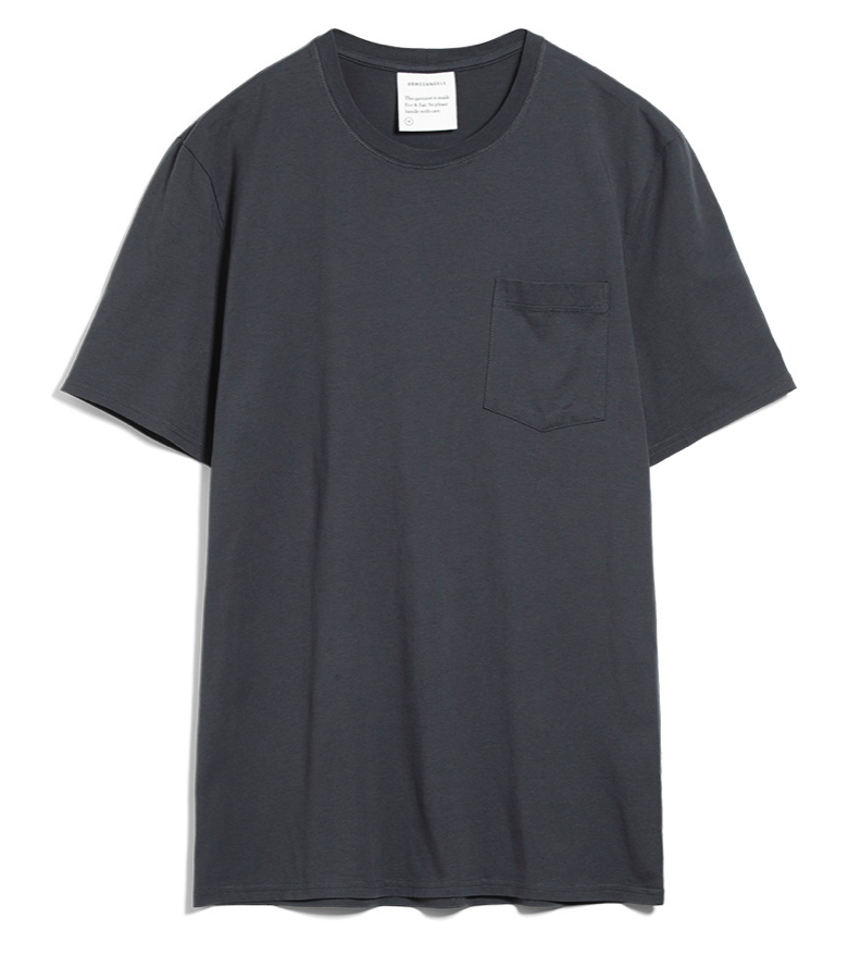 ARMEDANGELS Aaik pocket T-shirt acid black