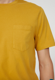 ARMEDANGELS Aaik pocket T-shirt mustard yellow