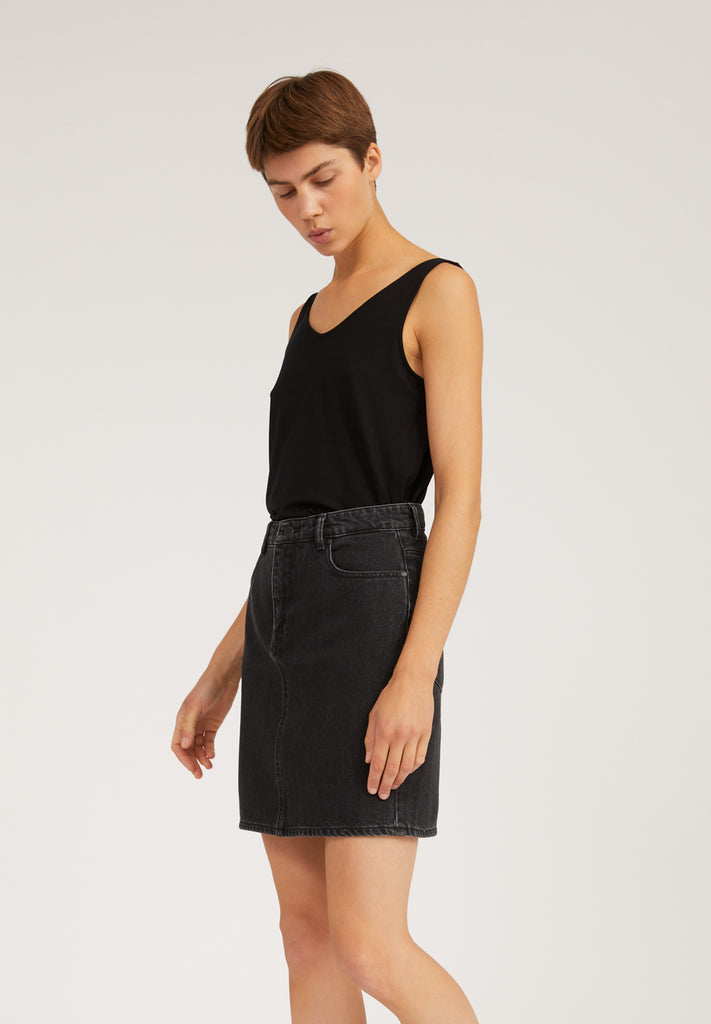 ARMEDANGELS Aava skirt washed down black