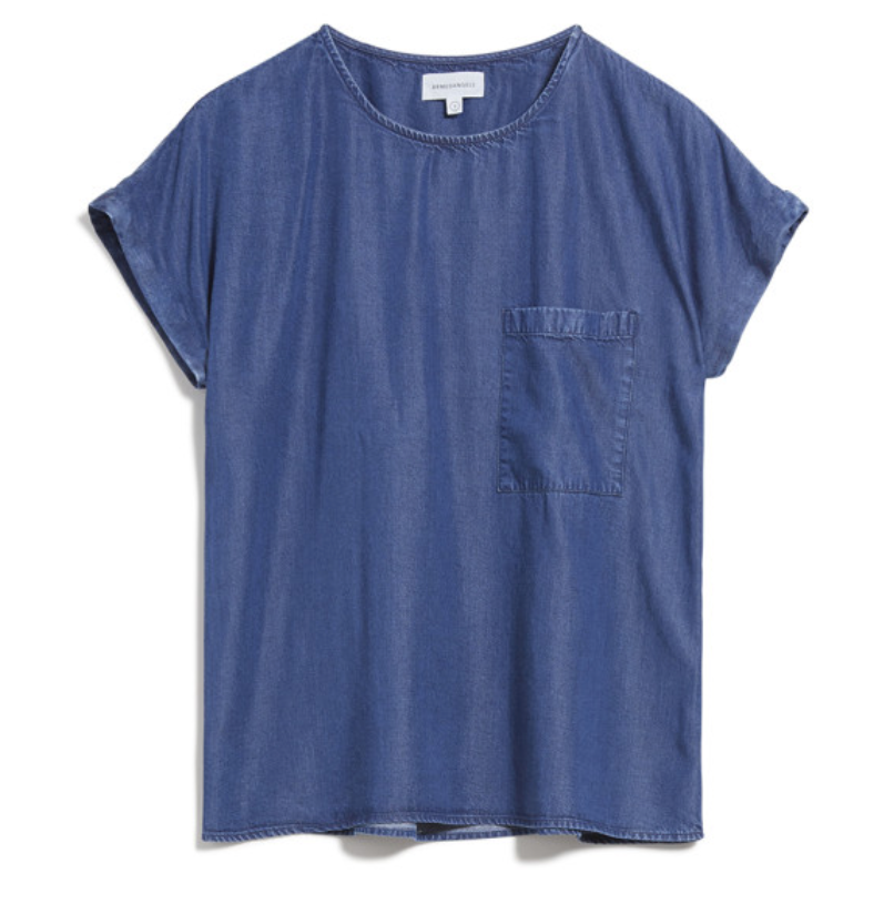 ARMEDANGELS Ajalaa top denim blue