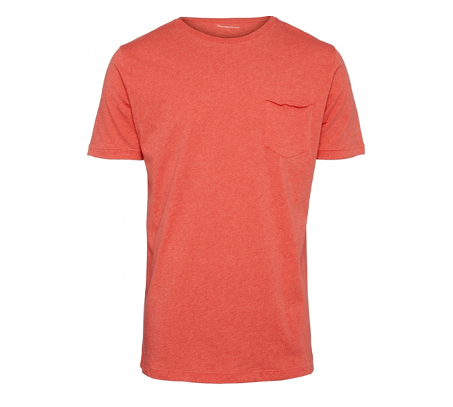 KCA 10203 ALDER Basic Chest pocket tee scarlet melange 1303