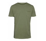 KCA 10203 ALDER Basic Chest pocket tee green melange 1232