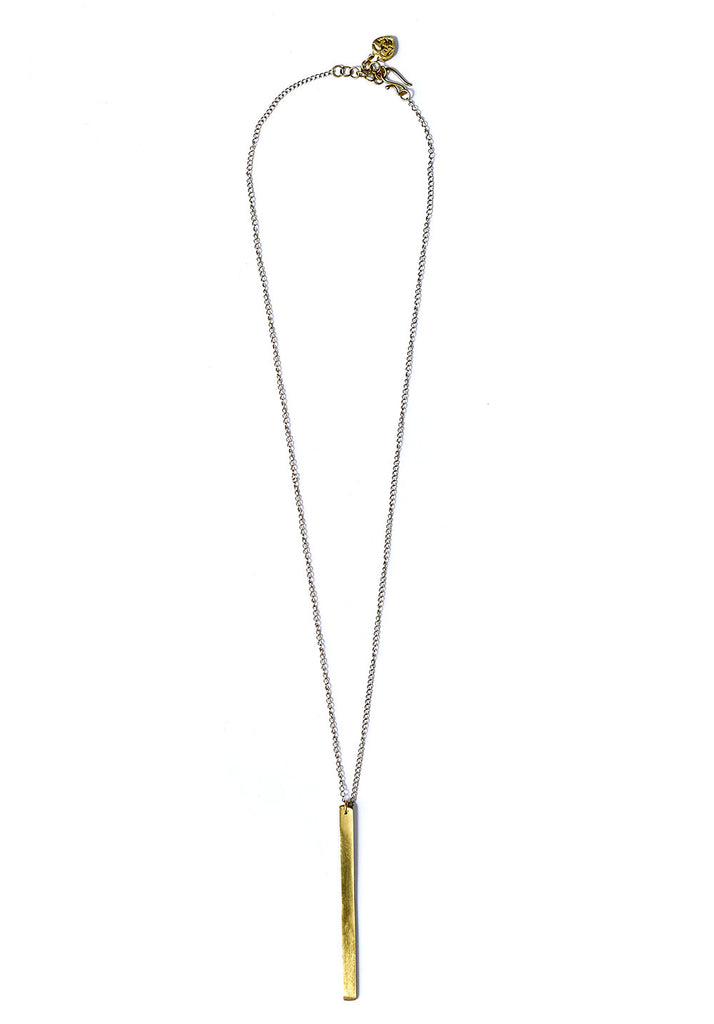 PEOPLE TREE Bar necklace brass Y469UA