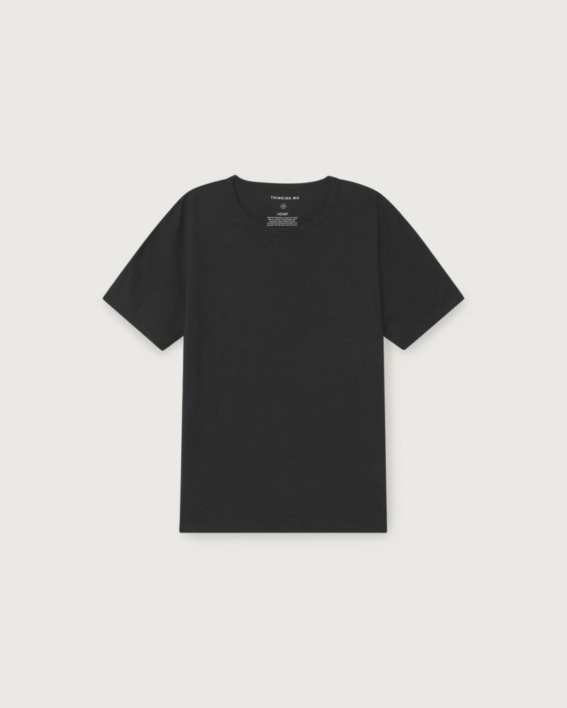 THINKING MU (Basic) Hemp T-shirt black Men