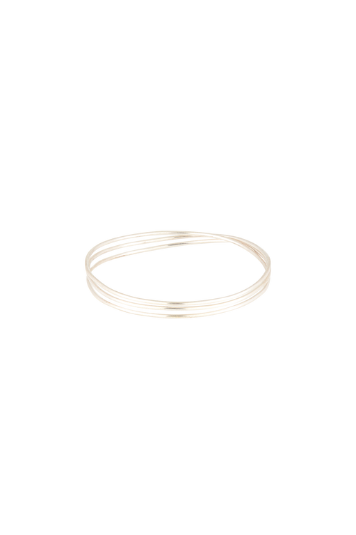 PEOPLE TREE Coil bangle silver