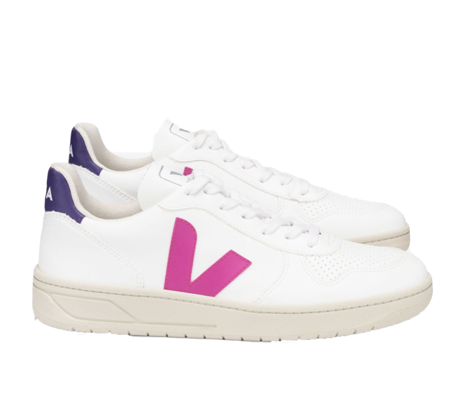 VEJA V-10 CWL white ultraviolet purple women