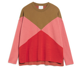 ARMEDANGELS Dalilaa graphics jumper golden khaki cinnamon rose