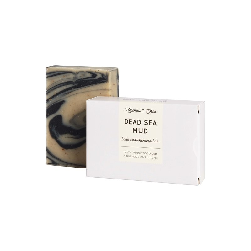 HelemaalShea Body and Shampoo Bar Dead Sea Mud