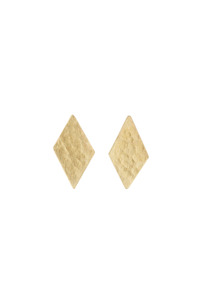 PEOPLE TREE Diamond Stud earrings brass