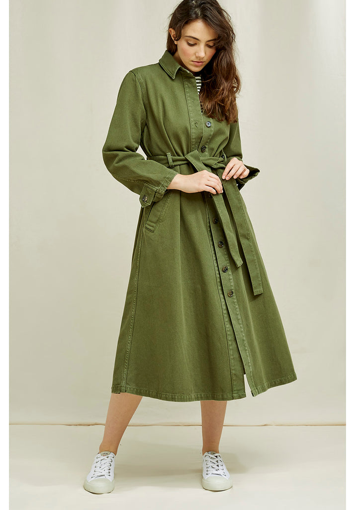 PEOPLE TREE Elina coat khaki Y167UA