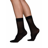 Swedish Stockings Emma Leopard Socks Black