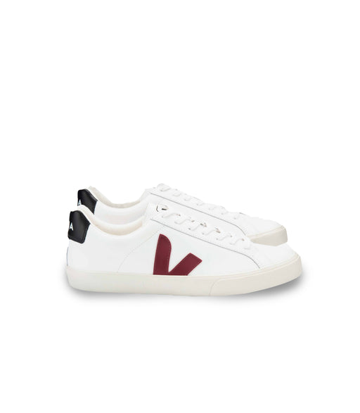 VEJA Esplar Leather White Marsala Black Women