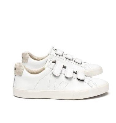VEJA Esplar Leather 3 Lock White Women