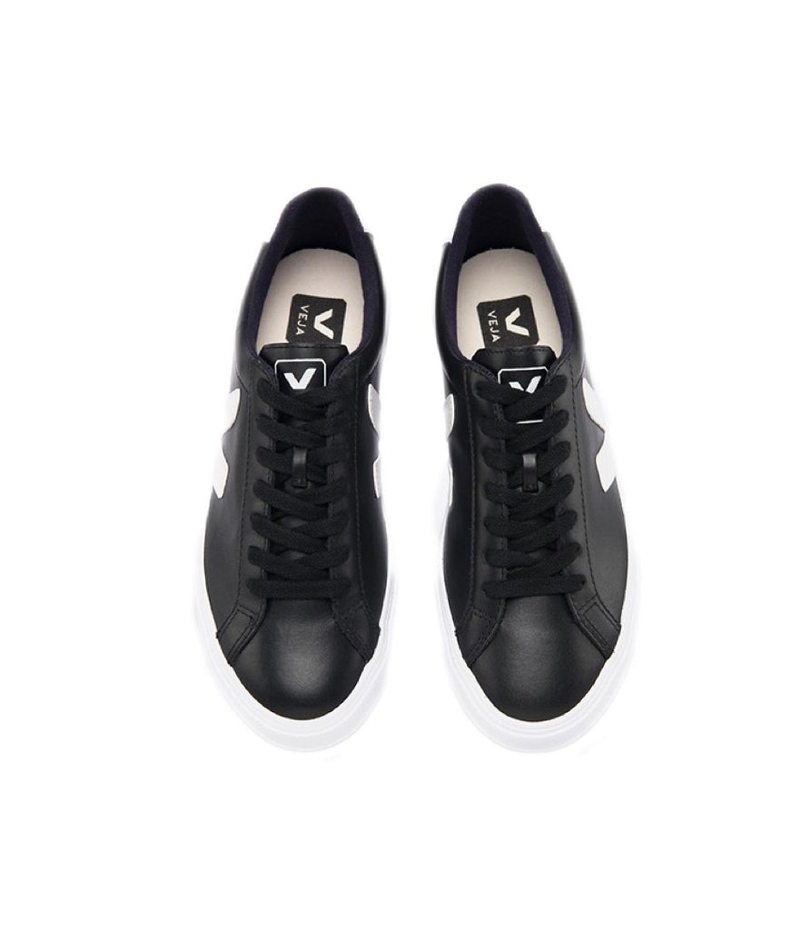 VEJA Esplar Leather Black White Men