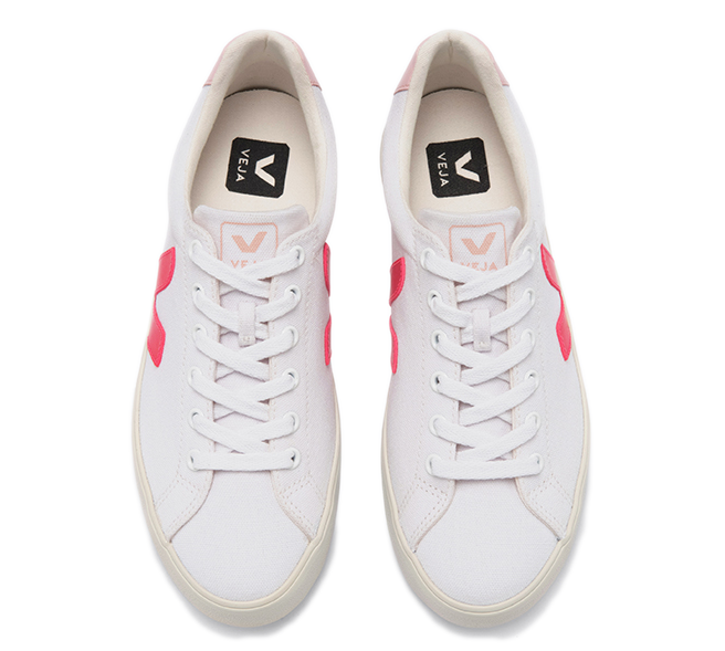 VEJA Esplar SE Canvas white rose fluo petale women