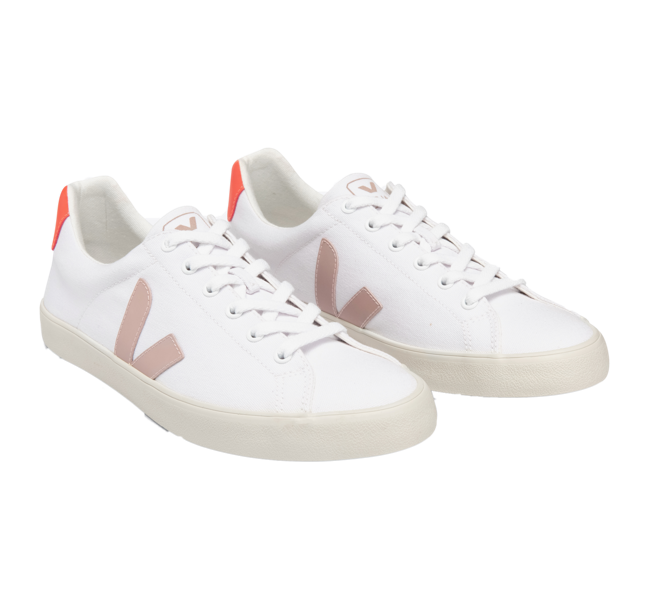 VEJA Esplar SE Canvas White Babe Orange Fluo Women
