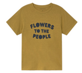 THINKING MU Flowers To The People T-shirt Women