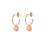 Jacqueline & Compote Hexagon Earrings Pink