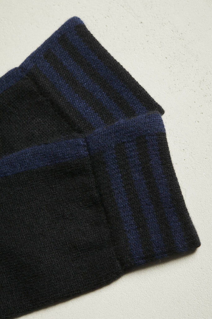 LANIUS Wool socks 12694 black night blue