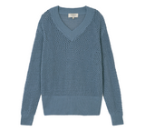 THINKING MU Indigo Willow Mesh Knit Women