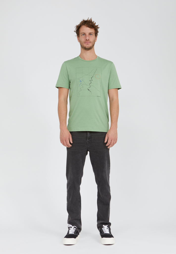 ARMEDANGELS Jaames Scale Up T-shirt misty grass