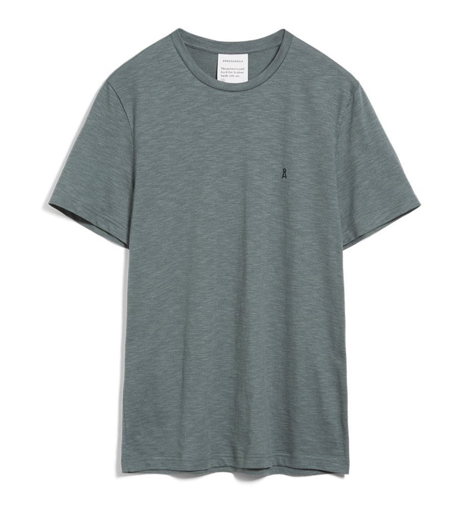 ARMEDANGELS Jaames structure T-shirt Atlantic green sea green