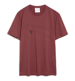 ARMEDANGELS Jaames Mountain Climber T-shirt sable red