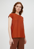 ARMEDANGELS Jaarin knitted stripe top glossy orange cacao