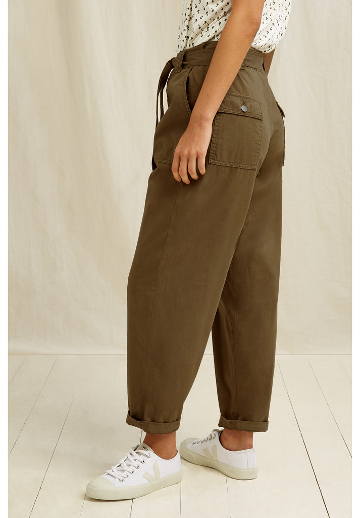 PEOPLE TREE Larisa trousers khaki X170UY.KH