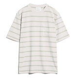 ARMEDANGELS Maatze Stripes Pocket T-shirt white sand green tea