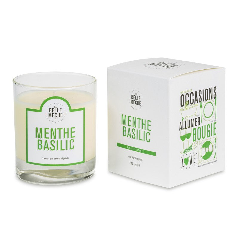 LA BELLE MECHE Mint Basil Scented candle