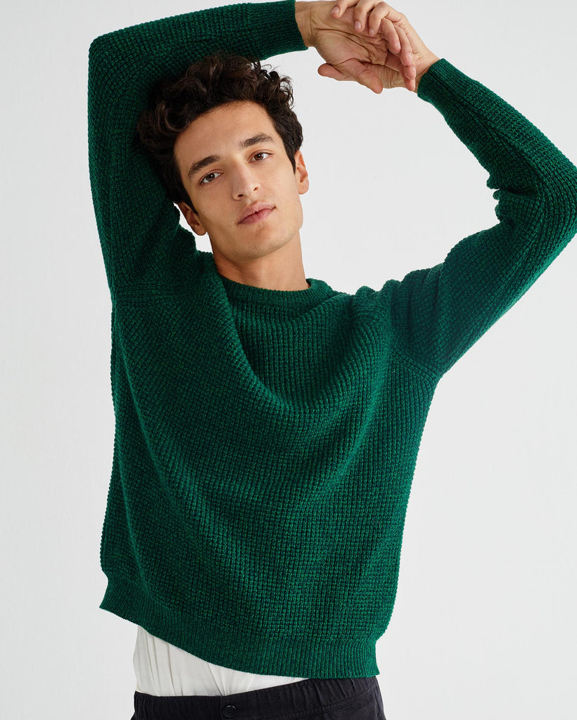 THINKING MU Anteros sweater jumper green Men