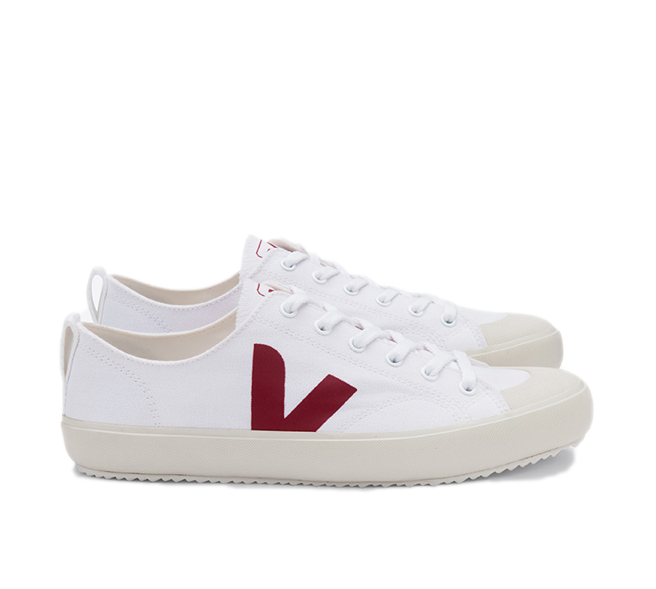 VEJA Nova Canvas White Marsala Men