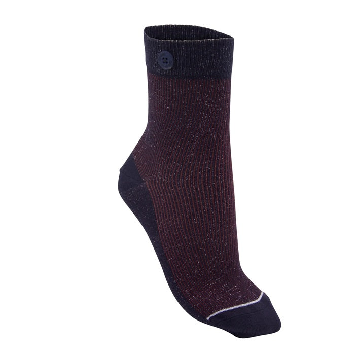 Qnoop Glitter Rib bordeaux women